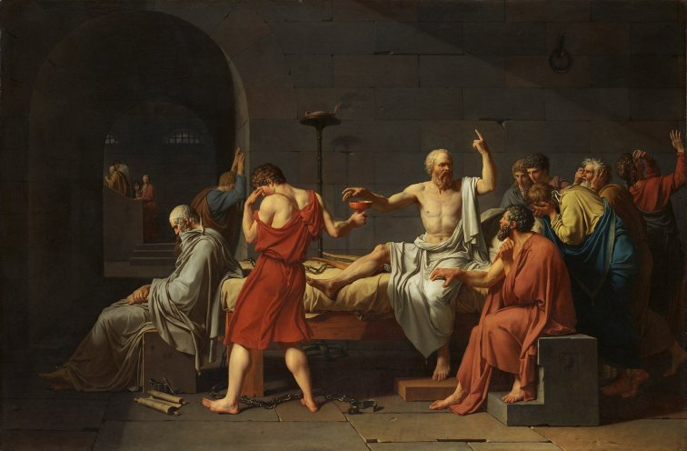 "David's ""The Death of Socrates"""