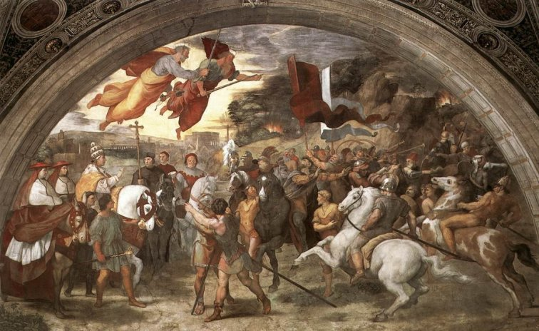 A painting of Leo's meeting with Attila.